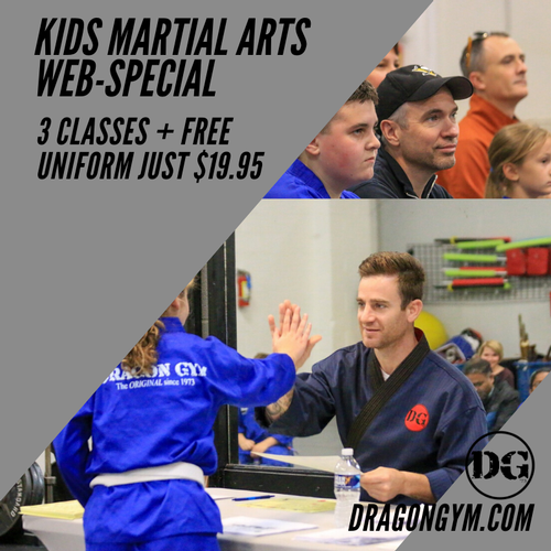 Kids Martial Arts New Student Web-Only Special: 3 Classes and a Free uniform for just $19.95!